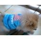 강아지 티셔츠 강아지 의류 국립 국기 미국 / 미국 코스츔 애완 동물