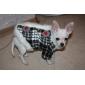 Cachorro Casacos Roupas para Cães Clássico Mantenha Quente Xadrez Preto/Branco