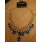 сплав водослива жемчужина кулон ожерелье (разные цвета)
