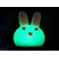 Светильник ночной светодиодный в форме кролика из  кристалообразного плачтика (USB)
