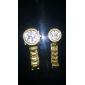 Couple's Diamond Case Gold Steel Band Quartz Wrist Watch (Assorted Colors) Cool Watches Unique Watches