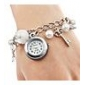 Women's Watch Alloy Bracelet With Imitation Pearls and Key Pendent Cool Watches Unique Watches Fashion Watch