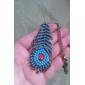 보헤미안 복고풍 푸른 공작 기털 긴 목걸이 스웨터 사슬 N439