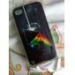 triângulo com fogo gravura em relevo de volta caso para iphone 4 / 4s