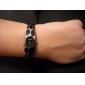 Aço mulheres analógico pulseira relógio de quartzo (cores sortidas)