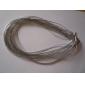 Sliver Colar corda trançada para as Mulheres (Conteúdo 5 Pics)