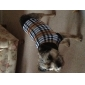 Cat Dog Sweater Dog Clothes Classic Keep Warm Plaid/Check Brown Costume For Pets