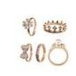 Ring Daily Jewelry Alloy Women Midi Rings 1set 5pcs,8½ Gold