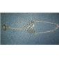 lureme®vintage 금속 중공 아웃 물고기 규모의 패턴 팔찌
