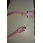 Micro USB vers USB mâle à mâle câble de données pour Samsung / Huawei / ZTE / Nokia / HTC / Sony Ericson Type Rose Plat (1M)