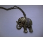 Collier d'alliage de cru de Zircon d'éléphant de modèle (couleurs assorties)