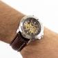 Unisex's Wrist PU Analog Mechanical Watch (Brown)