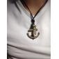 Муж. Ожерелья с подвесками Крестообразной формы анкер Кожа Медь Сплав Регулируется бижутерия Бижутерия Назначение Повседневные Новогодние