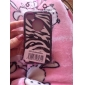 Defender Series Hybrid  Protective Hard Case with Zebra Pattern Silicone Coat for iPhone 4/4S (Optional Colors)