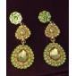 plaqué waterdrop l'or vert des femmes alliage de zircon boucles d'oreilles