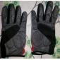 K2 Rouge + Noir + Gris nylon confortables / respirant plein les doigts Gants de vélo / escalade