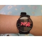 Pair of Sports Style Red LED Jelly Wrist Watches - Black & White Cool Watches Unique Watches