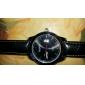 Calendário dos homens estilo analógico relógio de pulso de quartzo PU (cores sortidas)