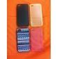Фиолетовых тонах Цветные рисования Pattern черная рамка PC Жесткий чехол для iPhone 4/4S