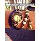 cru cuir pendentif quartz analogique bande montre bracelet de hibou des femmes (couleurs assorties)
