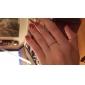 lureme®alloy 지르콘 눈송이 패턴 링 (임의의 크기)