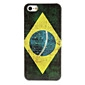 Retro Brazil Flag Pattern Protective Hard Case for iPhone 5/5S