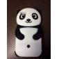 Panda Design de gel de silice de dessin animé 3D souple pour iPhone 5