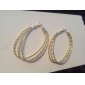 Vintage Alloy Multi-circle Pattern Earrings(Assorted Colors)