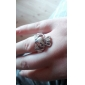 Lureme®Alloy Heart Royal Crown Pattern Ring(Assorted Colors)