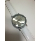 Mulheres Relógio de Moda Relógio de Pulso Relógio Elegante Quartzo Couro Banda Heart Shape Branco