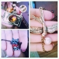 женская корейского способа красный лук котенок ожерелье n541