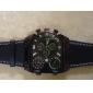 V6 Masculino Relógio Militar Relógio de Pulso Três Fusos Horários Quartzo Quartzo Japonês PU Banda Preta