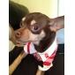 Cães Camiseta / Camisa Vermelho / Azul Roupas para Cães Primavera/Outono Riscas