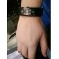 homens e mulheres de liga de relógio pulseira de quartzo analógico (preto)
