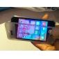 Раскладушка Разработанный TPU мягкое Полный Дело Корпус с Прозрачная передняя крышка для iPhone 4/4S (разных цветов)