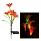 RGB Color Changing Solar LED Flower Garden Light (CIS-A2807)