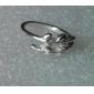 Women's Silver Ivy Leaf Ring for Women Size 8