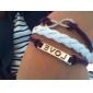Lureme®Love And Infinite Pattern Braided Bracelet