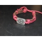 Men's Chain Bracelet ID Bracelets Leather Bracelet Unique Design Fashion Leather Fabric Others Peace Sign Jewelry Christmas Gifts Daily