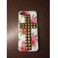 Novelty Design Bronzed Rivets Cross and Rose Pattern Hard Case with Nail Adhesive for iPhone 5/5S