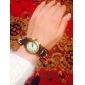 Women's Vintage Style Four Leaf Clover Pendant Brown Leather Band Quartz Bracelet Watch Cool Watches Unique Watches