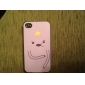 Cute Graphic Pattern PC Hard Case with Black Frame for iPhone 4/4S