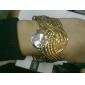 여성의 석영 아날로그의 모양 강철 밴드 팔찌 시계 (분류 된 색깔)
