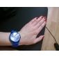 Montre Tendance à Quartz, Bracelet en Silicone Bleu
