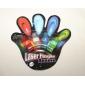 1 шт красочный водить перста лазера света (цвет случайный)