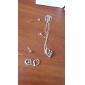 Silver Heart Earrings & Necklace Jewelry Set