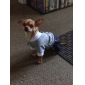 Dog Jumpsuit Dog Clothes Fashion British Jeans Hearts Gray Costume For Pets