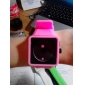 Women's Creative Two-Dot Dial Silicone Band Quartz Analog Wrist Watch (Pink)