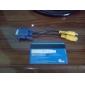 VGA мужчины к RCA + S-Video женский кабель (0,1 м)