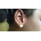 Earring Flower Stud Earrings Jewelry Women Daily Alloy